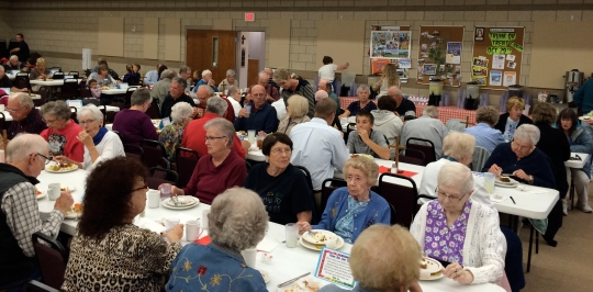 Great attendence of 550 last night for our BBQ dinner at Calvary Lutheran Church in Rapid City, SD.
