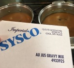 For the au jus, we made a case of this gravy mix.